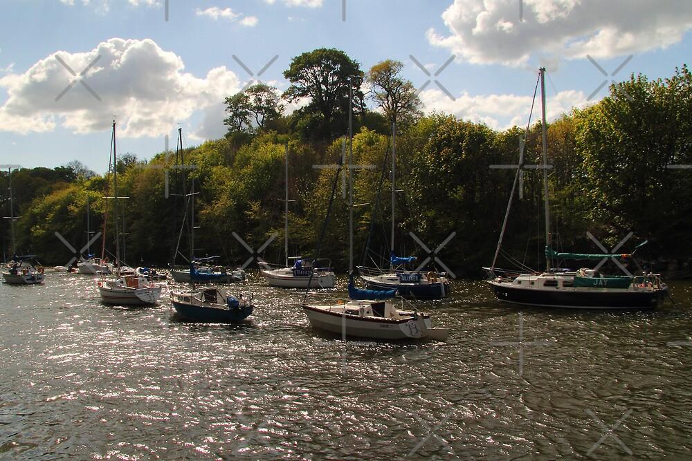 Yachts at Cramond by Tom Gomez
