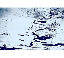 Abstract in Blues XVI Photographic Print