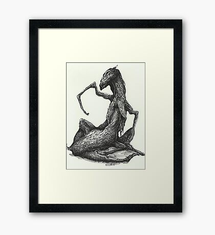 Insert Here (Pre-painting drawing)  Framed Print