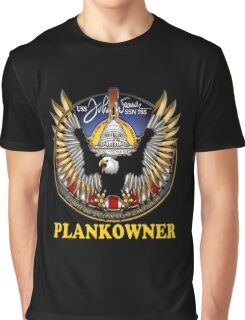 SSN-785 Plank Owner Logo for Dark Colors Graphic T-Shirt