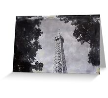 Eiffel Tower Wet Plate Greeting Card
