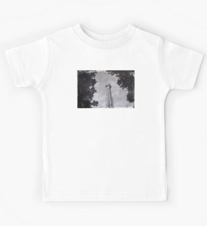 Eiffel Tower Wet Plate Kids Tee