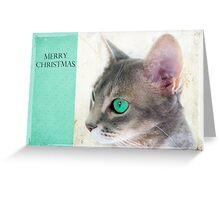 "Cat Eye ""Merry Christmas"" Greeting Card"