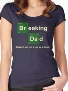 Breaking Dad Women's Fitted Scoop T-Shirt