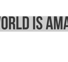 THIS WORLD IS AMAZING. Sticker