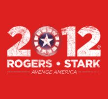 Vote Rogers & Stark 2012 (White Vintage) One Piece - Long Sleeve