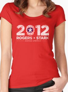Vote Rogers & Stark 2012 (White Vintage) Women's Fitted Scoop T-Shirt