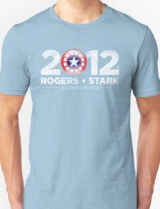 Vote Rogers & Stark 2012 (White Vintage) Unisex T-Shirt