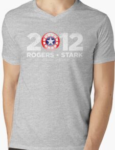 Vote Rogers & Stark 2012 (White Vintage) Mens V-Neck T-Shirt