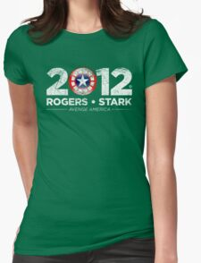 Vote Rogers & Stark 2012 (White Vintage) Womens Fitted T-Shirt
