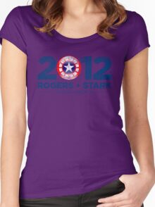 Vote Rogers & Stark 2012 (Blue Vintage) Women's Fitted Scoop T-Shirt