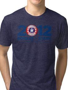 Vote Rogers & Stark 2012 (Blue Vintage) Tri-blend T-Shirt