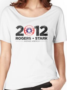 Vote Rogers & Stark 2012 (Black Vintage) Women's Relaxed Fit T-Shirt