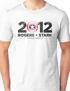 Vote Rogers & Stark 2012 (Black Vintage) Unisex T-Shirt