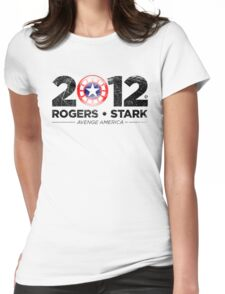 Vote Rogers & Stark 2012 (Black Vintage) Womens Fitted T-Shirt