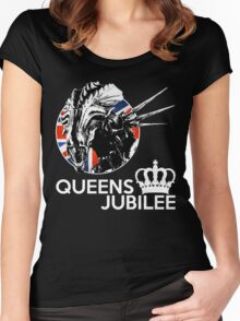 The Real Queens Jubilee Women's Fitted Scoop T-Shirt