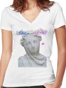 ANAMANAGUCHI Women's Fitted V-Neck T-Shirt