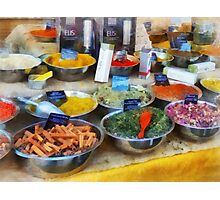 Spice Stand Photographic Print