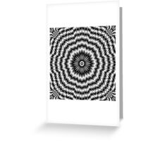 Silver Rosette Greeting Card