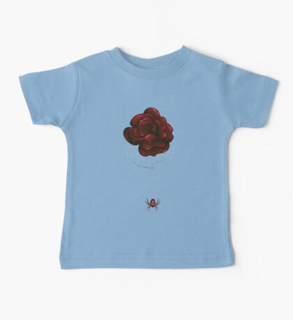 Red Rose and Spider Baby Tee