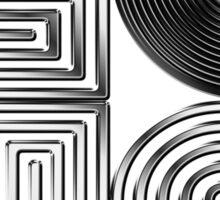 Record Love - Metallic - Chrome Sticker