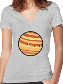 Venus - Sticker Women's Fitted V-Neck T-Shirt