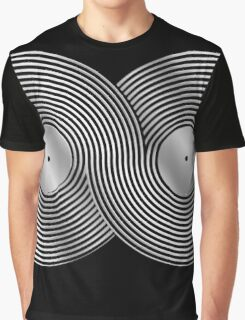 Vinyl Record Infinity - Mobius Strip - Metallic - Silver Graphic T-Shirt