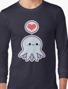 Cute Blue Octopus Long Sleeve T-Shirt