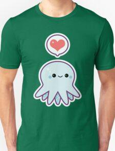 Cute Blue Octopus Unisex T-Shirt