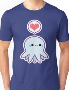 Cute Blue Octopus Unisex T-Shirt