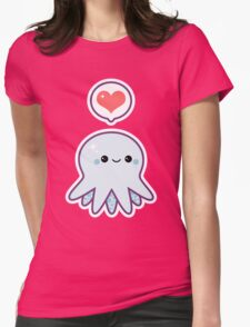 Cute Blue Octopus Womens Fitted T-Shirt
