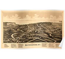 Panoramic Maps Silver Creek NY Poster