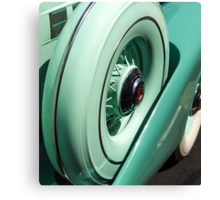 Green Curves on Packard Super 8 Canvas Print