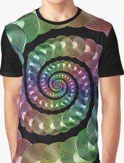 Vinyl LP Record Vortex - Metallic Rainbow Spiral Graphic T-Shirt