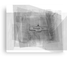 Yonge Street Sign Canvas Print