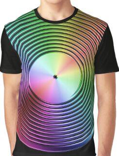 Vinyl LP Record - Metallic - Rainbow Graphic T-Shirt