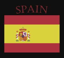 Spain Spanish Flag black t shirt by Tia Knight