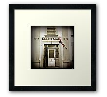 County Jail (Astoria #12) Framed Print