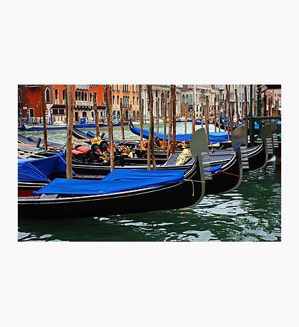 Grand Canal Gondolas Venice Italy Photographic Print