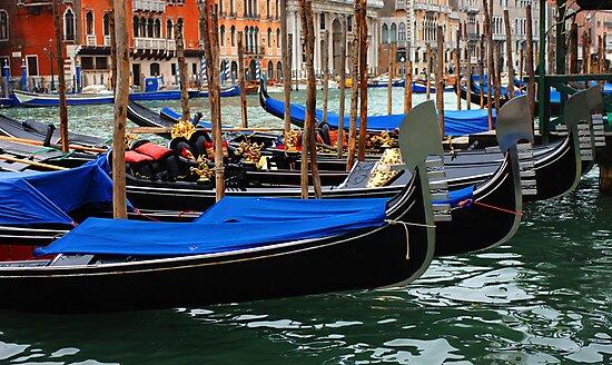 Grand Canal Gondolas Venice Italy by Bob Christopher