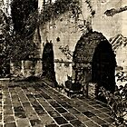 Old photo of court yard at the Old Mill. by philw