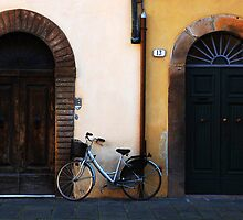 Doorways In Lucca Italy by Bob Christopher
