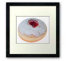 Sufganiyah with red jam and sugar powder  Framed Print