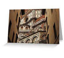 Florence The Duomo Fasade Greeting Card