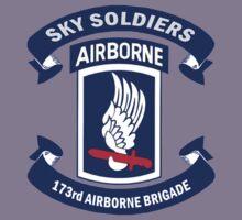 173rd Airborne Brigade Combat Team Crest Kids Tee