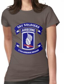 173rd Airborne Brigade Combat Team Crest Womens Fitted T-Shirt