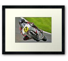 125cc racing. Bike 77. Framed Print