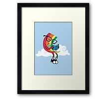 Reading Rainbow Framed Print