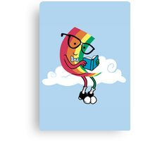 Reading Rainbow Canvas Print