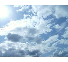 SILVERY CLOUDS Photographic Print